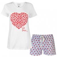 Set pijama cu pantaloni scurti Rock and Rags pentru Femei