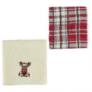 Set Prosoape mici Linens and Lace Reindeer Novelty of 2