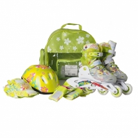Mergi la Set Rucsac Casca Patine cu rotile PW 116AF , , Protection Kit, , verde Kiddy Mechanics