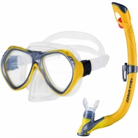 Set scufundari Aqua-Speed Masca inot Aura + Tub SnorkelingEvo galben Col 18605