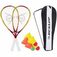 Set Speedminton Racketball Dunlop galben-rosu 762091