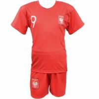 Set fotbal replica Lewandowski Polonia Cupa Mondiala de 2018 rosu