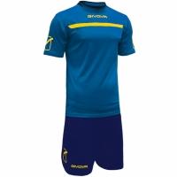 Set Givova kit echipament fotbal complet One albastru-galben 0207