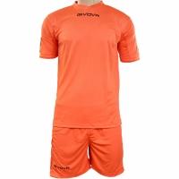 Set Givova kit echipament fotbal complet MC portocaliu
