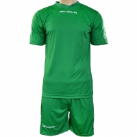 Givova kit echipament fotbal complet MC verde