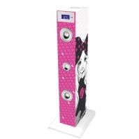 Sistem Karaoke Copii Buetooth Cu Microfon Rock 2x10 W 85 Cm Bigben Fete