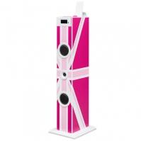 Sistem Karaoke Copii Buetooth Cu Microfon roz London 2x10 W 70 Cm Bigben
