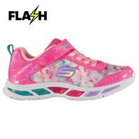 Adidasi sport Skechers S Lights Litebeam pentru fete