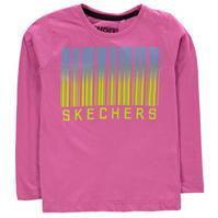 Tricou Skechers cu Maneca Lunga imprimeu Graphic pentru fetite