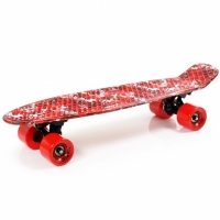 Placa skateboard SMJ UT-2206 rosu JUNGLE