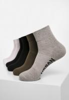 Set de 6 Sneaker Sosete High negru-alb Urban Classics