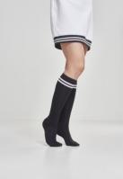 Sosete pana la genunchi femei negru-alb Urban Classics