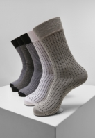 Sosete Stripes and Dots 5-. negru-gri Urban Classics deschis alb