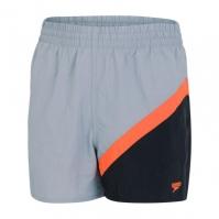 Speedo Colourblock Watershorts pentru baieti gri portocaliu negru
