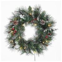Spiritul Craciunului 50cm Prelit Wreath 94