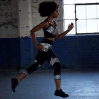 SportFX Grid Print Capris pentru Femei