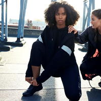 Colanti trei sferturi SportFX Side Print pentru Femei