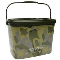 Bait Tech Square Camo Bucket