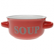 Stanford Home Soup Bowl With Handles