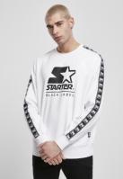 Bluza maneca lunga Starter Logo Taped alb