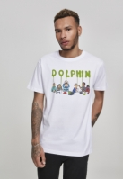 Supper Tee alb Pink Dolphin