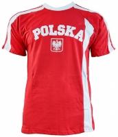 Mergi la Tricou bumbac replica Polonia rosu / alb pentru barbati