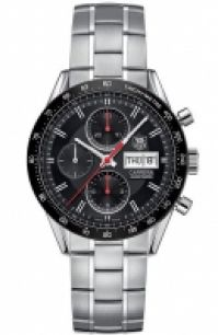Tag Heuer Mod Carrera Chrono Tachy Day Date 41 Mm negru Dial