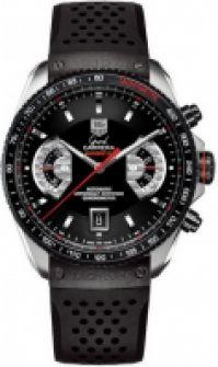 Tag Heuer Mod Grand Carrera negru Crono Cal 17 Steel & Titanium