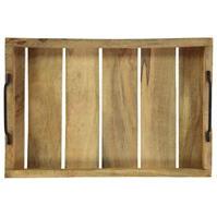 Excellent Houseware Handle Wooden Medium Tray