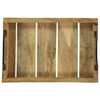 Excellent Houseware Handle Wooden Small Tray
