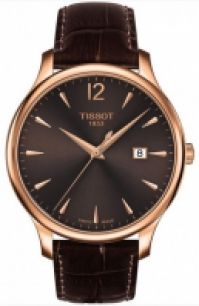 Tissot Mod Chemin Tour Tradition -gent - Rose Gold Pvd - Gent - din piele Strap