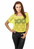 Tricouri plasa femei galben neon Urban Classics