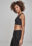 Top scurt Rib pentru Femei negru Urban Classics