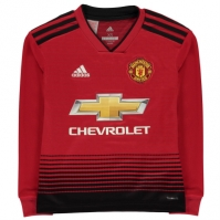 Tricou Acasa adidas Manchester United cu Maneca Lunga 2018 2019 pentru copii