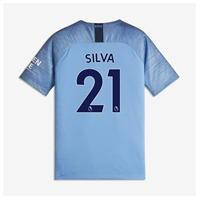 Tricou Acasa Nike Manchester City David Silva 2018 2019 pentru copii