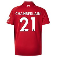 Tricou Acasa   New Balance Liverpool Alex Oxlade Chamberlain 2018 2019 pentru copii