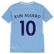 Tricou Acasa Nike Manchester City Kun Aguero 2017 2018 pentru copii