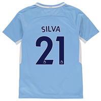 Tricou Acasa Nike Manchester City Silva 2017 2018 pentru copii