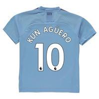 Tricou Acasa Puma Manchester City Sergio Aguero 2019 2020 pentru copii