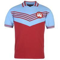 Tricou Acasa Score Draw Retro West Ham United 1976 pentru Barbati