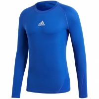 Bluza maneca lunga barbati adidas Alphaskin Sport albastru CW9488 teamwear adidas teamwear