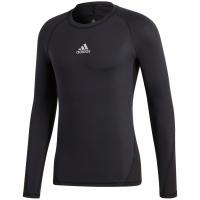 Bluza maneca lunga barbati adidas Alphaskin Sport negru CW9486
