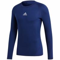 Bluza maneca lunga barbati adidas Alphaskin Sport bleumarin CW9489