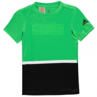 Tricou adidas antrenament Colour Block pentru baietei
