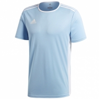 Tricou Adidas Entrada 18 albastru deschis CD8414 barbati teamwear adidas teamwear