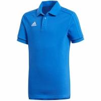 Tricou poloadidas TIRO 17 bumbac albastru BQ2693 copii adidas teamwear