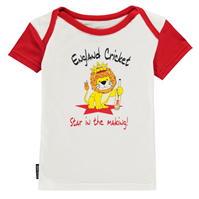 Tricou Anglia Cricket Cricket cu guler rotund pentru Bebelusi