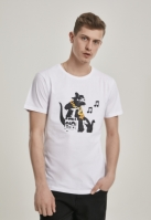 Tricou Banksy HipHop Rat alb Merchcode