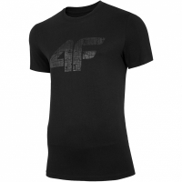 Tricou barbati 4F negru intens H4L20 TSM012 20S