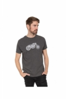 Tricou barbati Motorbike Charcoal Trespass